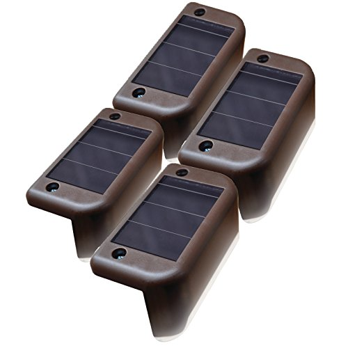 MAXSA-Solar-Step-Deck-Railing-Lights-4-Pack-Dusk-to-Dawn-Outdoor-Accent-Lighting-Brown-47332-0