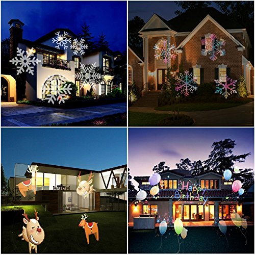 MUEQU-Christmas-Projector-Light-LED-Spotlight-LampWaterproof-LED-Landscape-Lamp-Light-Effect-with-16-Replaceable-Slides-for-Christmas-Birthday-Halloween-Party-Weeding-GardenHome-Wall-Decoration-0