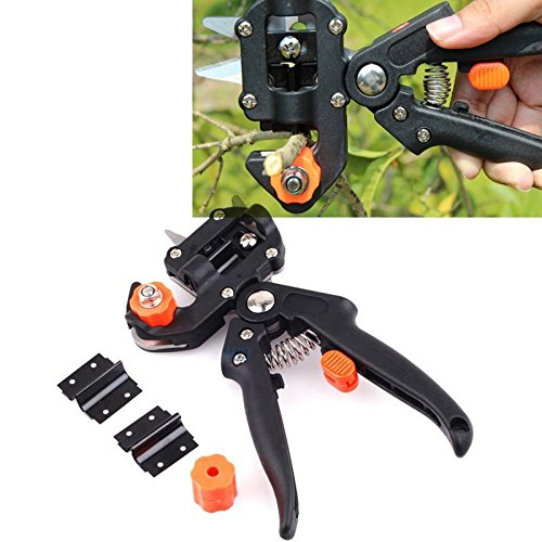 Maximumstore-Professional-Nursery-Grafting-Cutting-Tool-Pruner-Knife-w2-Extra-Blades-Black-0-2