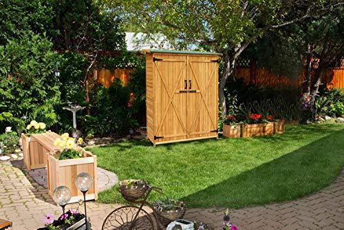 Mcombo-Outdoor-Wooden-Storage-Shed-Utility-Tools-Organizer-Garden-Lawn-w-Lockable-Double-Doors-1400-0-0