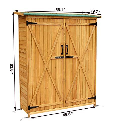 Mcombo-Outdoor-Wooden-Storage-Shed-Utility-Tools-Organizer-Garden-Lawn-w-Lockable-Double-Doors-1400-0-2