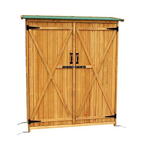 Mcombo-Outdoor-Wooden-Storage-Shed-Utility-Tools-Organizer-Garden-Lawn-w-Lockable-Double-Doors-1400-0