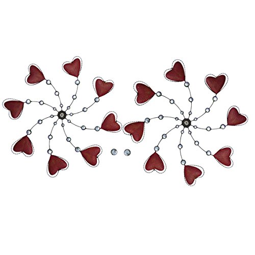 Metal-Dual-Heart-Wind-Spinner-YardGarden-Ornament-Lawn-Art-0-0