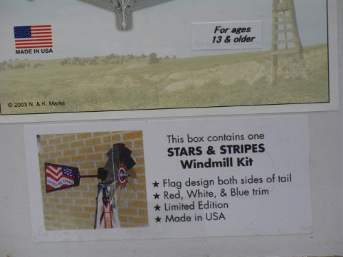 Mini-17-Inch-Made-in-USA-Windmill-galvanized-Steel-Red-White-Blue-Trim-Stars-and-Stripes-0-1