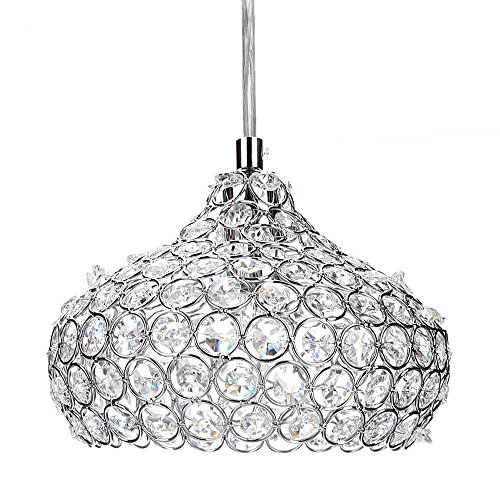 Mini-Crystal-Ceiling-Lights-1-light-Crystal-Pendant-Lights-Drops-Hanging-Light-Fixture-with-Chain-for-Kids-Room-Study-Room-OfficeKitchen-Dining-Room-Bedroom-Living-Room-351-x-82inch-Silver-0-0