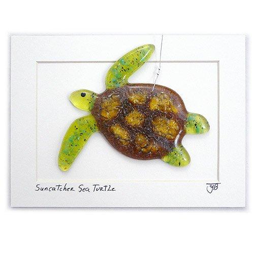Modern-Artisans-Sea-Turtle-Fused-Glass-Sun-Catcher-Handmade-in-USA-0-0