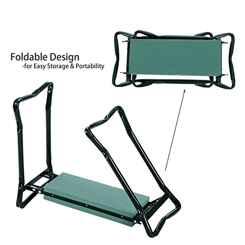 Multifunction-Garden-Foldable-Padded-Kneeler-Seat-Bench-with-2-Tool-Pouches-0-0