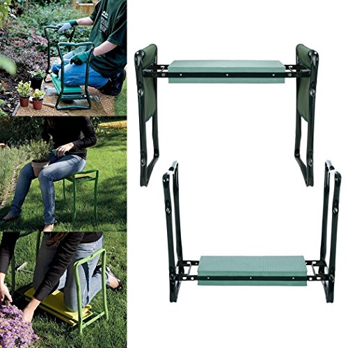Multifunction-Garden-Foldable-Padded-Kneeler-Seat-Bench-with-2-Tool-Pouches-0