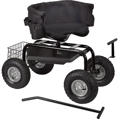 NEW-Rolling-Garden-Seat-With-Easy-Change-Turnbars-Swiveling-0