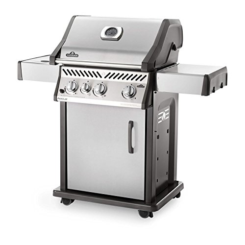Napoleon-Rogue-425-Freestanding-Stainless-Steel-Gas-Grill-with-Side-Burner-R425SBNSS-Natural-Gas-0