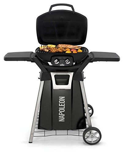 Napoleon-TravelQ-Pro-Portable-Gas-Grill-with-Cart-and-Side-Shelf-Kit-PRO285-BK-PRO285-STAND-0-0