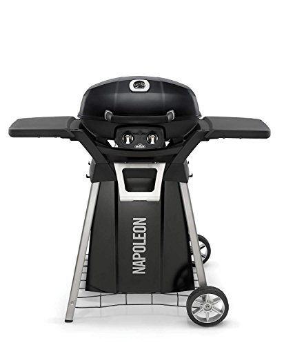 Napoleon-TravelQ-Pro-Portable-Gas-Grill-with-Cart-and-Side-Shelf-Kit-PRO285-BK-PRO285-STAND-0
