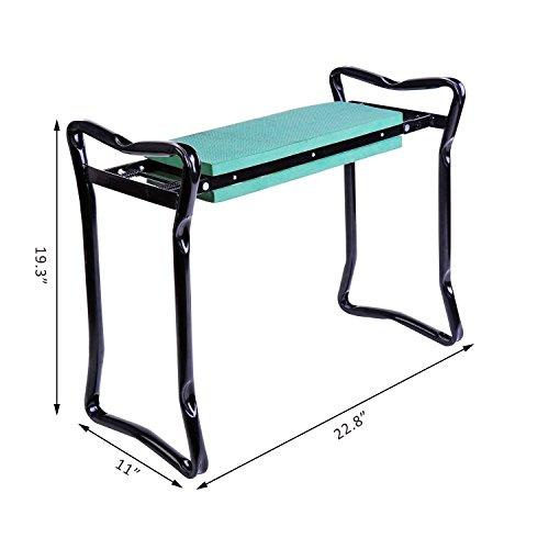 New-Folding-Garden-Kneeler-Gardener-Kneeling-Pad-Cushion-Seat-Sturdy-Green-0-2