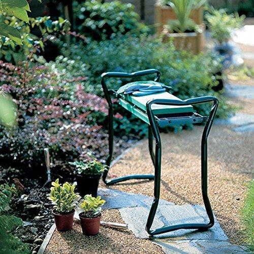 New-Folding-Garden-Kneeler-Gardener-Kneeling-Pad-Cushion-Seat-Sturdy-Green-0