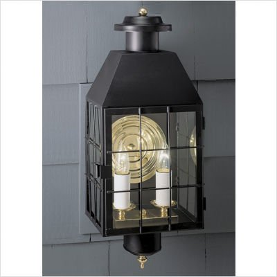 Norwell-Lighting-1093-BR-CL-American-Hertitage-Two-Light-Outdoor-Wall-Mount-Glass-Options-Clear-Glass-Choose-Finish-BR-Bronze-0