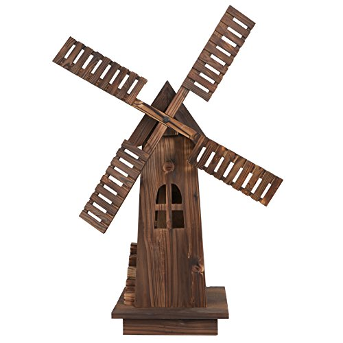 Nova-Microdermabrasion-34-Wooden-Dutch-Windmill-for-Garden-Yard-Classic-Old-Decorative-Windmill-Brown-0-0