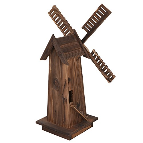 Nova-Microdermabrasion-34-Wooden-Dutch-Windmill-for-Garden-Yard-Classic-Old-Decorative-Windmill-Brown-0-1