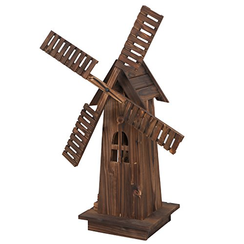 Nova-Microdermabrasion-34-Wooden-Dutch-Windmill-for-Garden-Yard-Classic-Old-Decorative-Windmill-Brown-0