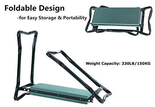 Ohuhu-Garden-Kneeler-and-Seat-Soft-Kneeling-Pad-Foldable-Gardening-Stool-with-2-Bonus-Tool-Pouches-0-0