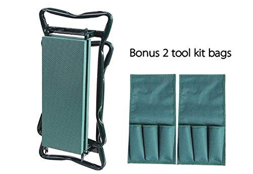 Ohuhu-Garden-Kneeler-and-Seat-Soft-Kneeling-Pad-Foldable-Gardening-Stool-with-2-Bonus-Tool-Pouches-0-1