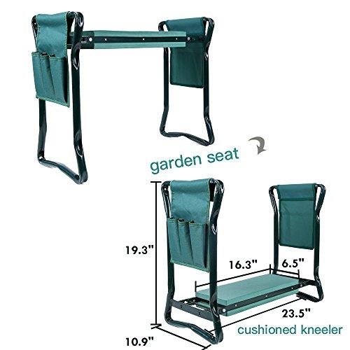 Ohuhu-Garden-Kneeler-and-Seat-Soft-Kneeling-Pad-Foldable-Gardening-Stool-with-2-Bonus-Tool-Pouches-0-2