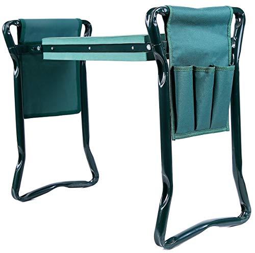 Ohuhu-Garden-Kneeler-and-Seat-Soft-Kneeling-Pad-Foldable-Gardening-Stool-with-2-Bonus-Tool-Pouches-0