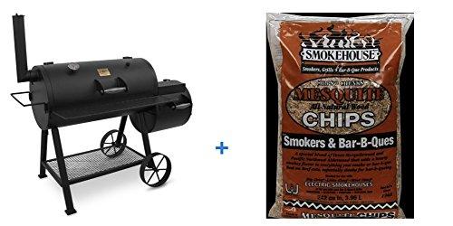 Oklahoma-Joe-Highland-879-sq-in-Smoker-with-BONUS-2LB-Luhr-Jensen-Mesquite-Chips-N-Chunks-0
