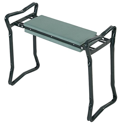 OnlineMartz-Folding-Sturdy-Garden-Kneeler-Gardener-Kneeling-Pad-and-Cushion-Seat-Knee-Pad-Seat-0