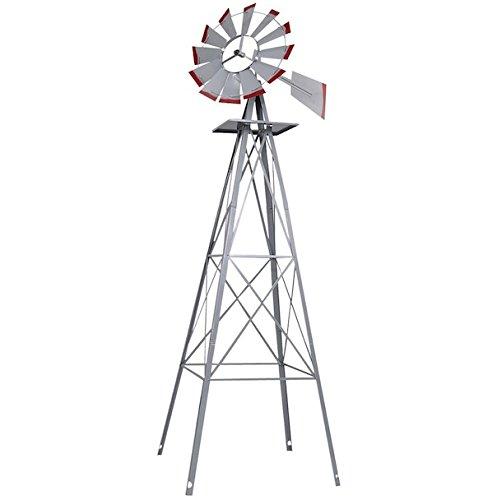 Ornamental-Windmill-Windspinner-8FT-Tall-Wind-Wheel-Outdoor-Patio-Garden-Yard-Backyard-Deck-Furniture-Dcor-Heavy-Duty-Steel-Weather-Vane-Durable-Wind-Spinner-Wheel-Turns-Quietly-Effortlessly-0-1