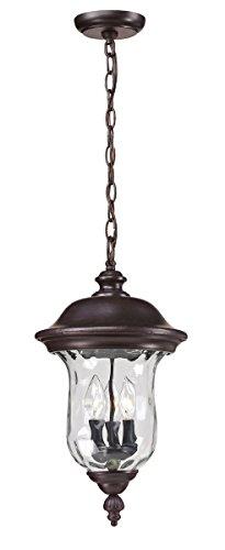 Outdoor-Pendant-2-Light-With-Bronze-Finish-Aluminum-Candelabra-Base-Bulb-10-inch-120-Watts-0