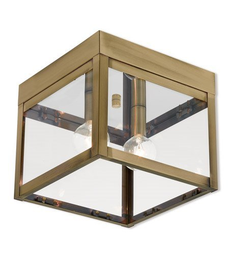 Outdoor-Post-2-Light-with-Antique-Brass-Finish-Solid-Brass-Candelabra-7-inch-120-Watts-World-of-Crystal-0