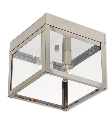Outdoor-Post-2-Light-with-Brushed-Nickel-Finish-Solid-Brass-Candelabra-7-inch-120-Watts-World-of-Crystal-0