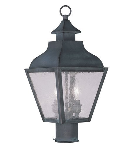 Outdoor-Post-2-Light-with-Charcoal-Finish-Candelabra-Base-9-inch-120-Watts-World-of-Crystal-0