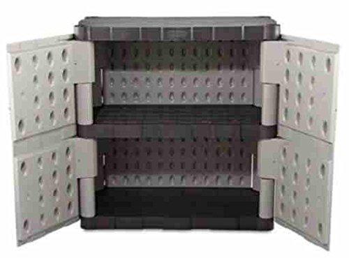 Outdoor-Storage-Shed-Garage-Cabinet-Double-Door-Resin-GrayBlack-0-1