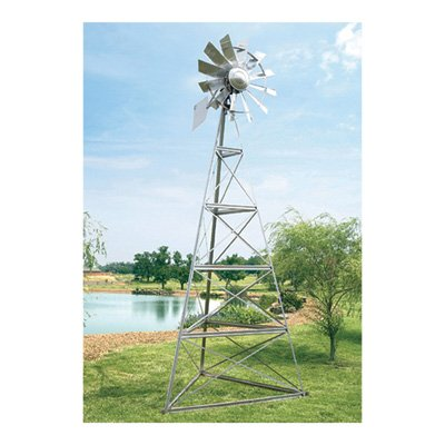 Outdoor-Water-Solutions-AWS0011-12-Feet-Galvanized-3-Legged-Aeration-System-Windmill-0