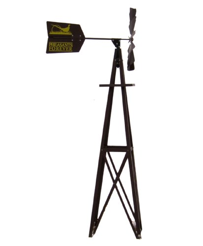 Outdoor-Water-Solutions-BYW0118-Small-Pheasants-Forever-Bronze-Powder-Coated-Backyard-Windmill-0-1