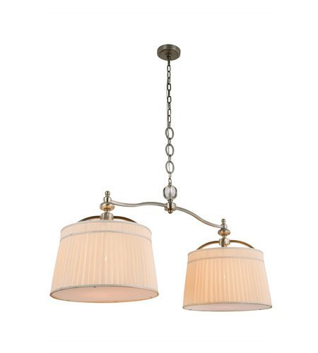 Pendants-2-Light-With-Vintage-Nickel-Finish-E26-Bulb-18-inch-80-Watts-World-of-Classic-0