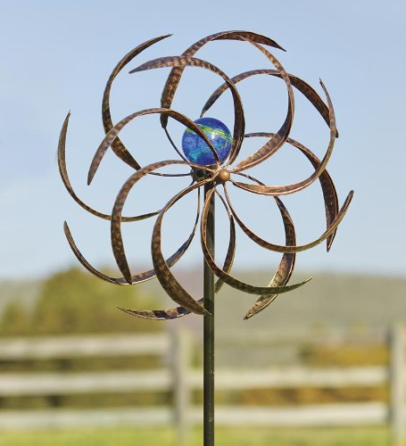 Plow-Hearth-52973-Metal-Wisp-Outdoor-Wind-Spinner-0