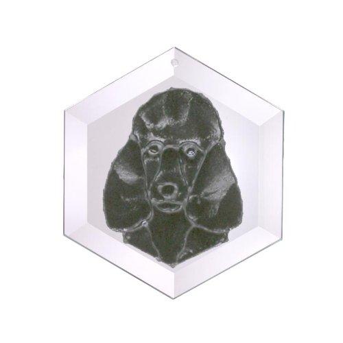 Poodle-Standard-Black-Painted-Glass-Suncatcher-Ew-265B-0