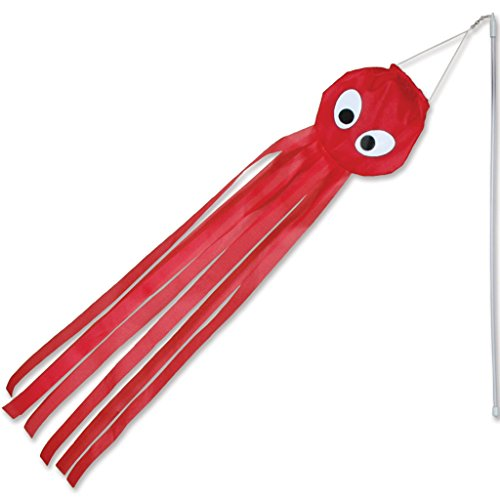 Premier-Kites-18024-12-Pack-Wind-Wand-Spinner-Red-Octopus-0