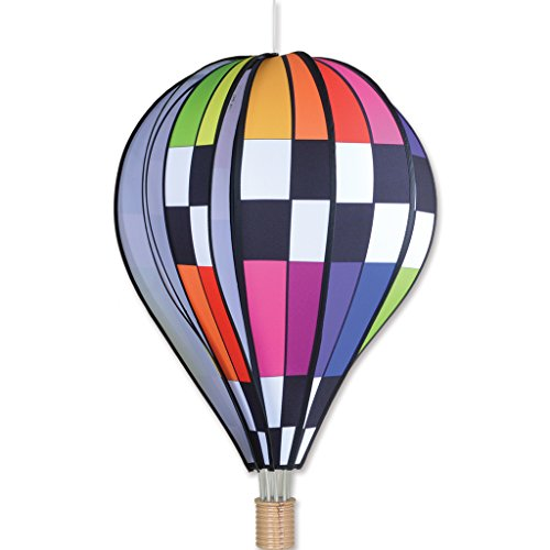 Premier-Kites-26-in-Hot-Air-Balloon-Checkered-Rainbow-0