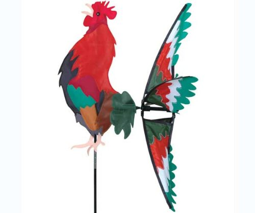Premier-Kites-Morning-Rooster-Spinner-Great-Garden-Display-Red-Green-0