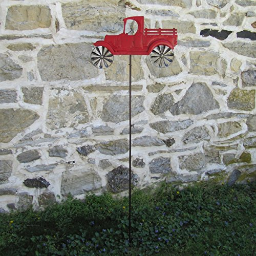 Primitive-Red-Farm-Truck-Garden-Wind-Spinner-Lawn-Ornamnet-or-Yard-Art-0-0