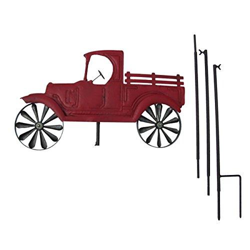 Primitive-Red-Farm-Truck-Garden-Wind-Spinner-Lawn-Ornamnet-or-Yard-Art-0