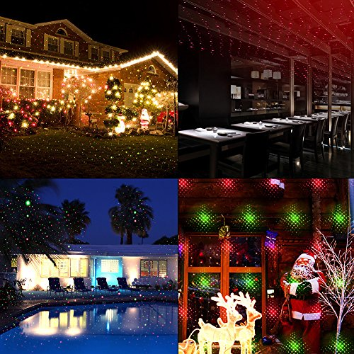 Star Shower Outdoor Laser Christmas Lights Star Projector.Projector Lights Garden Laser Light Mino Ant Outdoor Laser Landscape Star Shower Projector Lights With Rf Remote For Holiday Party Landscape