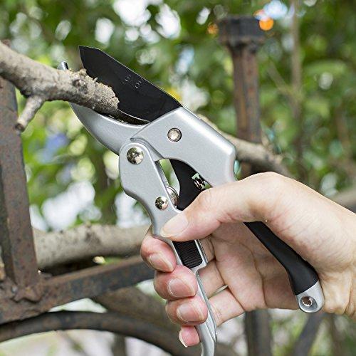 Pruning-Shears-ARKEBAN-Super-Sharp-Tree-Trimmers-Secateurs-Heavy-Duty-Hand-Pruner-Garden-Shears-SK-5-Steel-Blade-Sharp-Anvil-Clippers-For-The-Garden-0-2