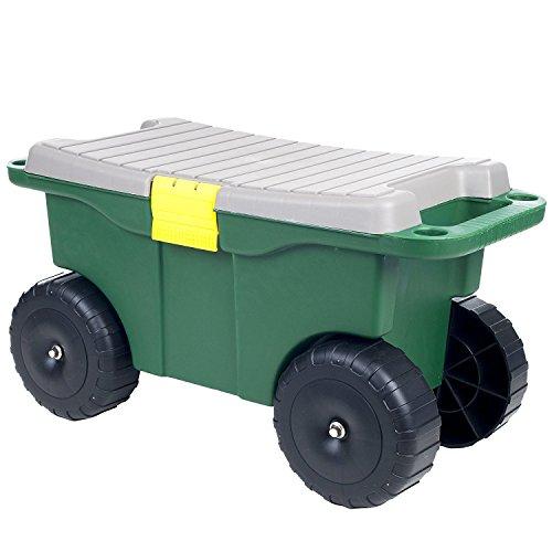 Pure-Garden-75-MJ2011-20-Plastic-Garden-Storage-Cart-Scooter-0-0
