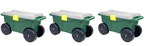 Pure-Garden-75-MJ2011-20-Plastic-Garden-Storage-Cart-Scooter-Pack-of-3-0