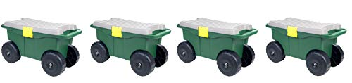 Pure-Garden-75-MJ2011-20-Plastic-Garden-Storage-Cart-Scooter-Pack-of-4-0