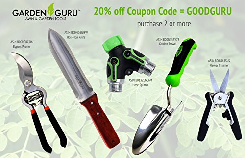 RAZOR-SHARP-SNIP-GB6-Clean-Cut-Professional-Trimmer-by-Garden-Guru-Lawn-and-Garden-Tools-Super-Sharp-Stainless-Steel-Blades-Easy-on-Arthritic-Hands-Soft-Ergonomic-Rubber-Handles-Life-Time-Full-Replace-0-1